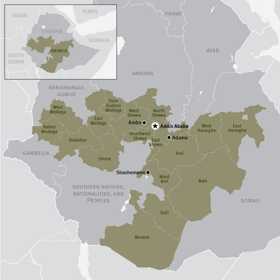 With 20000 detainees released ethiopia hopes to sustain restored ethiopia0616oromiamap 01 map of ethiopia highlighting gumiabroncs Gallery