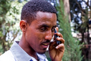 """""""I am very grateful to the National Ethiopian Association for the Blind. I've found great community and support there."""" """"የኢትዮጵያ አይነስውራን ማህበር ባለውለታዬ ነው፡፡ በዚህ ብዙ ወዳጆችና ብዙ ድጋፍ አግኝቻለሁ፡፡"""""""