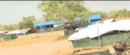Imagery via Kenya NTV: A church seen inside the Kulbiyow base.