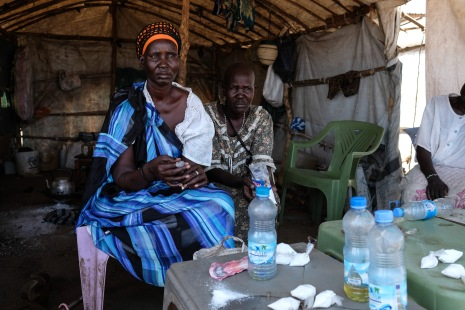 Angelina Nyanhial lost her leg after it was struck by a bullet during an attack on a Protection of Civilians3 site in Bor, in 2014. Since, she's been living in the Juba Protection of Civilians3, struggling to generate enough income to put her children at school.