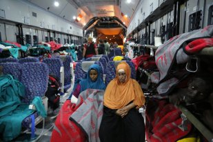 Evacuees of the bomb attack head to Turkey for medical treatment (Credit: Twitter/@afadturkey)